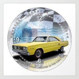 "1966 Dodge Coronet 500 Decorative 10"" Wall Clock (018ac) Art Print"