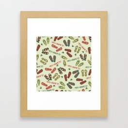 Kiwi Christmas Framed Art Print