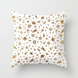 Space elements Throw Pillow