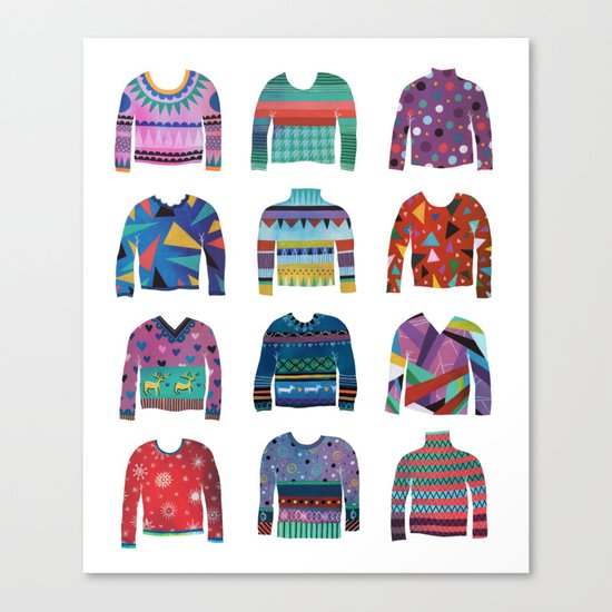 Sweater Poster Canvas Print
