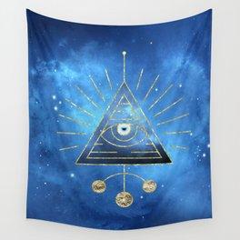 Magic Eye Blue Universe Wall Tapestry