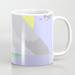 The mountains and the lake Coffee Mug