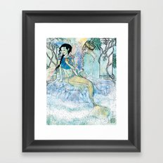 Pale Siren Framed Art Print