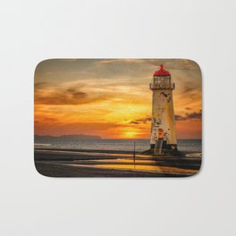 Sunset At The Lighthouse Bath Mat