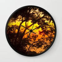 tropical Wall Clocks featuring tropical by mark ashkenazi