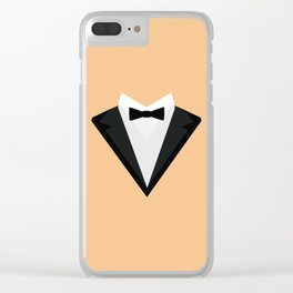 Black Tuxedo Suit with bow tie T-Shirt D946n Clear iPhone Case