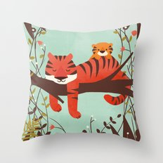 Sleeping Tiger Throw Pillow