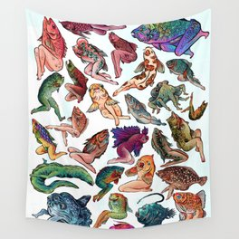 Reverse Mermaids Wall Tapestry