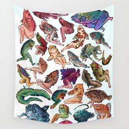 Reverse Mermaids Wall Tapestry