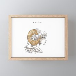 Aries Framed Mini Art Print