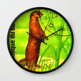 African Clawless Otter Wall Clock