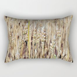 Wheat field texture of hay Rectangular Pillow