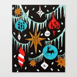 Mid Century Modern Christmas Tree Canvas Print