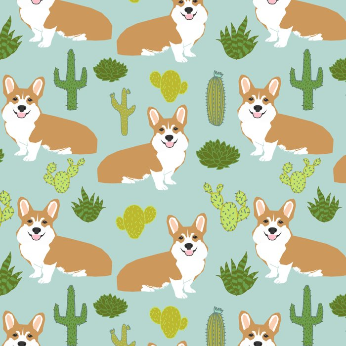 Corgi welsh corgi pattern print cute dog art pattern design pet portrait corgi puppy lovers fur baby Leggings