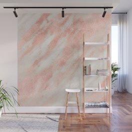 Desert Rose Gold Pink Marble Wall Mural