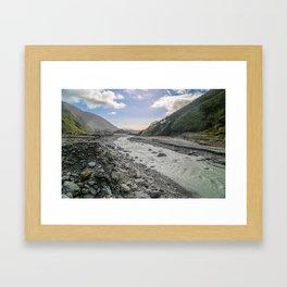 Beyond the Glacier Valley Framed Art Print