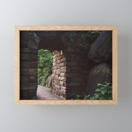 Central Park Archway Framed Mini Art Print