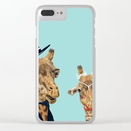 Funny Bride and Groom Clear iPhone Case