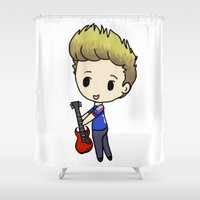 niall Shower Curtains featuring Niall and His Guitar by clevernessofyou