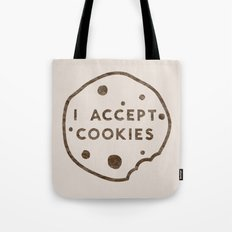 I Accept Cookies Tote Bag