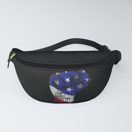 America Fist American Flag print Gift for USA Patriots Fanny Pack