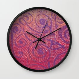 Gelatin Monoprint 2a Wall Clock