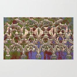 Portugal, gothic tracery at Batalha, the Knights Templar Monastery of Santa Maria da Vitoria  Rug