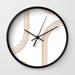 Mid Century Modern 1 - Geometrical Abstract - Minimal Print - Terracotta Abstract - Burnt Sienna Wall Clock