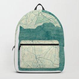 Lausanne Map Blue Vintage Backpack