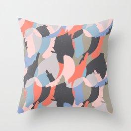 Modern abstract print Throw Pillow
