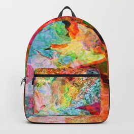Watery Leaves (autumn, abstract) Backpack