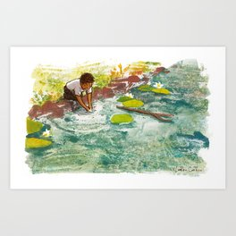 If I let tadpoles swim across my hands Art Print