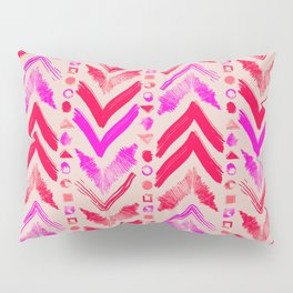 Tribal Scribble Kilim in Neon Coral + Neutral Pillow Sham