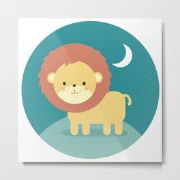Rory the Lion Metal Print