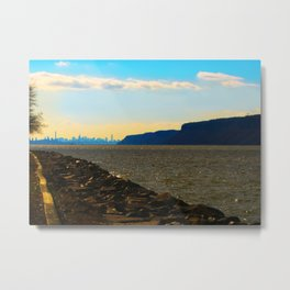 New York from the Hudson Metal Print