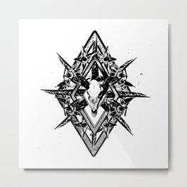 Deathshead Diamond Metal Print