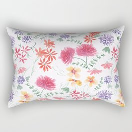 Bright flowers on a white background. Rectangular Pillow