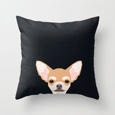 Misha - Chihuahua art print phone case gift for dog owner and dog people Throw Pillow