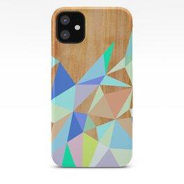 Wooden Geo Aqua iPhone Case