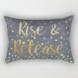 Rise and Release Yoga Meditation Rectangular Pillow