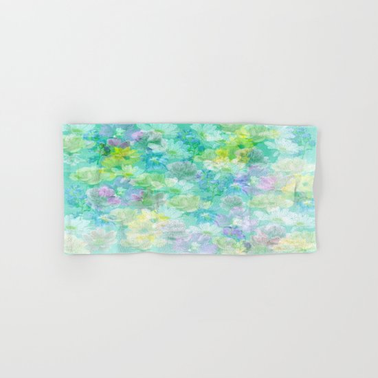 Enchanted Spring Floral Abstract Hand & Bath Towel