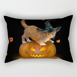 Kitty Halloween Rectangular Pillow
