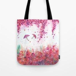 Umbrellas watercolor Painting Tote Bag