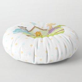 Noah's Ark - White Background Floor Pillow