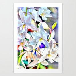 Cascading Cymbidium Art Print