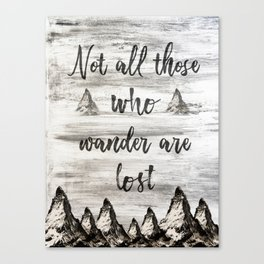 Not All Those Who Wander Are Lost-Matterhorn Swiss Alps-Typography Canvas Print