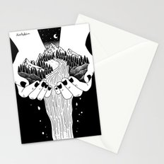the world in my hand Stationery Cards