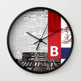 Newspaper Art 1 Wall Clock
