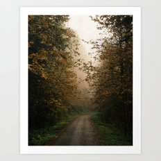 Oregon Fall Road Art Print