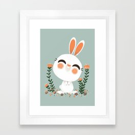 "The ""Animignons"" - the Rabbit Framed Art Print"